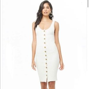 NWT Forever 21 Sleeveless Button-Front Dress